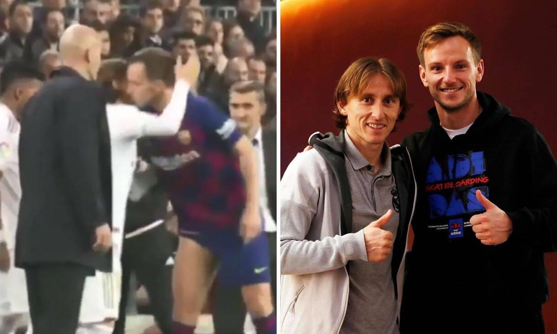 Rakitić poljubio Modrića dok je ulazio: 'Uvijek uz tebe, brate!'