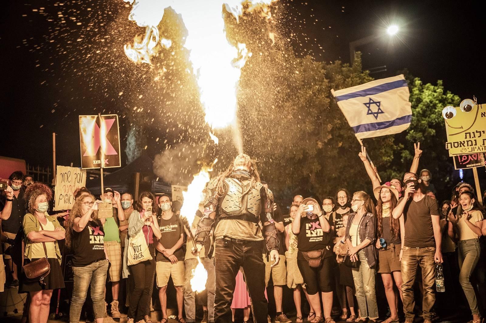 Protest against Israeli PM Netanyahu in Jerusalem