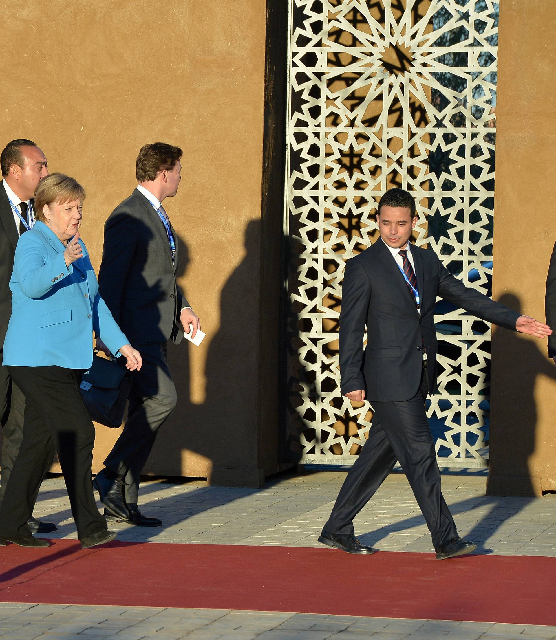 German Chancellor Angela Merkel arrives to the Intergovernmental Conference to Adopt the Global Compact for Safe, Orderly and Regular Migration, in Marrakesh