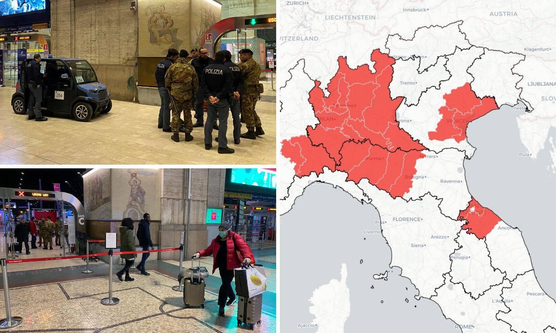 'Zaključali' sjever Italije: Zbog korone je 16 mil. ljudi u blokadi