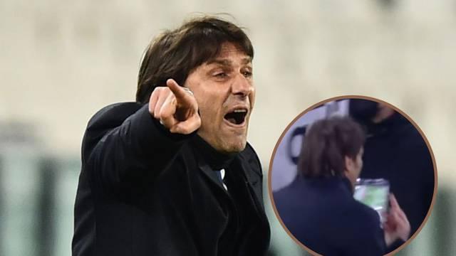 Conte pokazao srednji prst klupi Juventusa, predsjednik mu žestoko uzvratio: Odje*i, šu*ku!