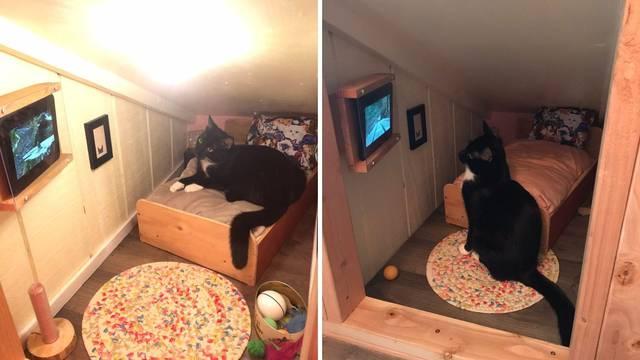 Iskoristio mali prostor u kući i napravio sobicu za svog mačka