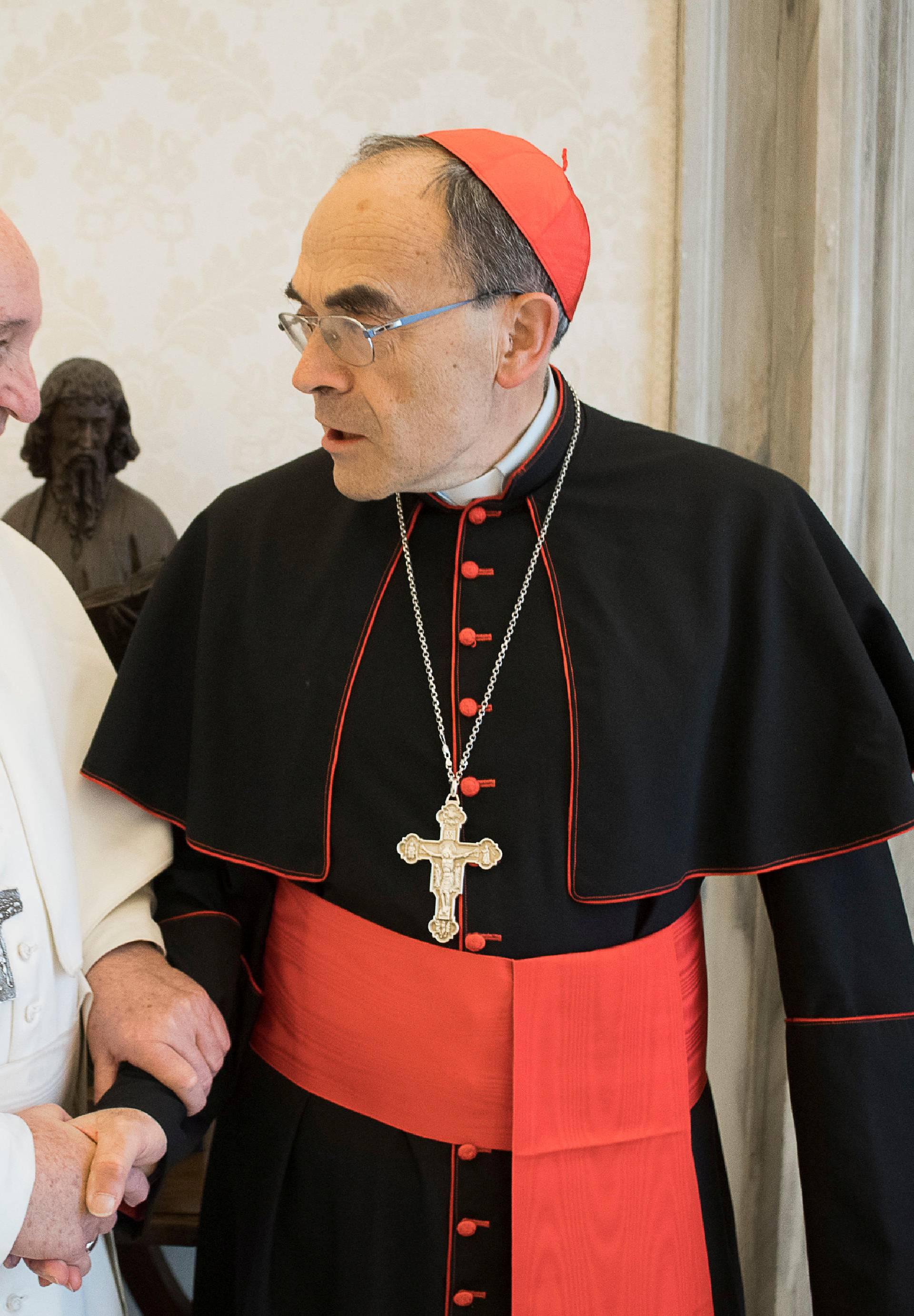 Pope Francis receives CardinalPhilippeBarbarin, Archbishop of Lyon, at the Vatican