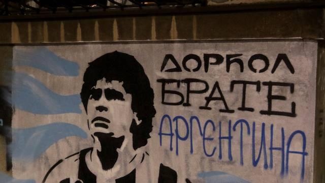 Beograd: Na Dorćolu osvanuo grafit posvećen Maradoni