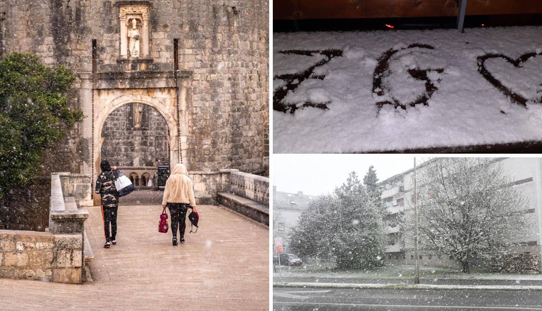Temperature idu ispod nule, a snijeg pada čak i u Dubrovniku!
