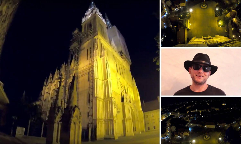 Zabranjeni skok: Padobranom 'poletio' s katedrale u Zagrebu!
