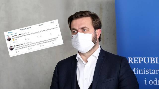 Ćorić otvorio Twitter profil, a u Sisku pričao o svojoj potkošulji