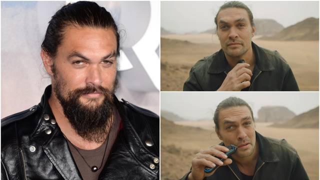 Jason Momoa obrijao je bradu: 'Sada više ništa nema smisla'