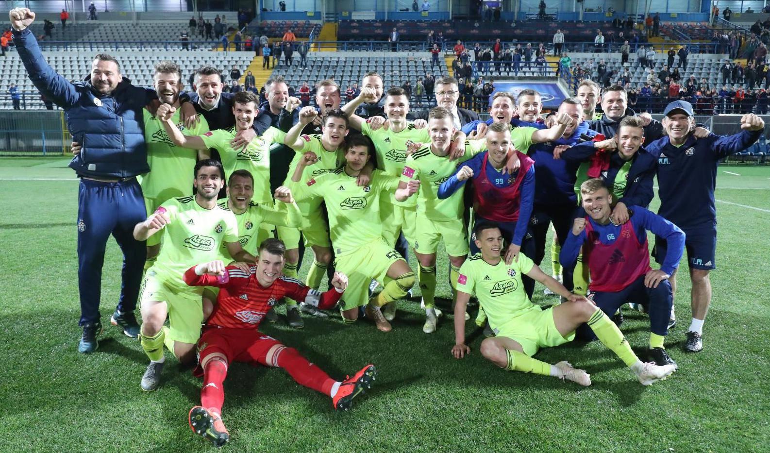 Koprivnica: Slavlje igrača Dinama nakon osiguranog naslova prvaka