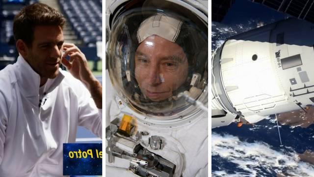 Del Potro pomagao astronautu u teniskom meču u - svemiru!