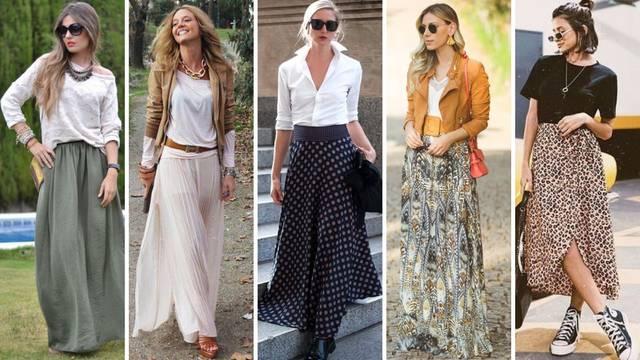20 ideja kako kombinirati duge suknje, ugodno i vrlo ženstveno