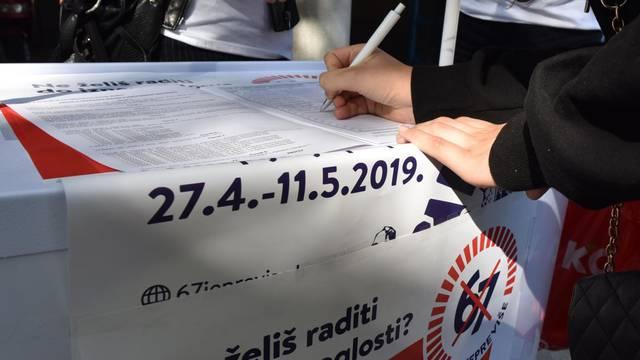 Prikupljaju potpise: 'Odaziv je dobar, ići ćemo na referendum'