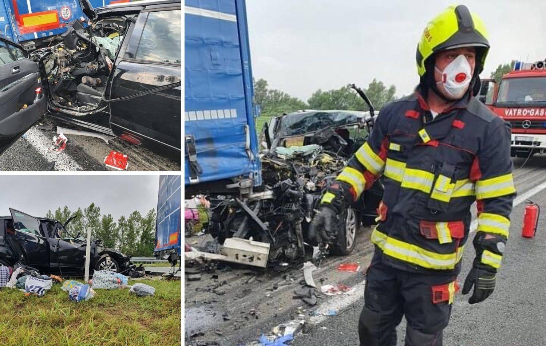Autom podletjeli pod kamion, cijela obitelj završila u bolnici