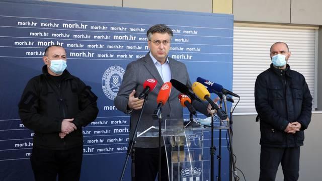 Petrinja: Plenković na sastanku Stožera za obnovu u Sisačko-moslavačkoj županiji
