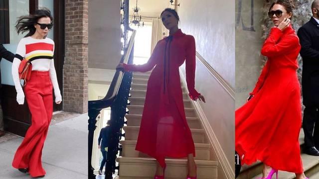 Victoria Beckham ovih dana odijeva omiljene crvene tonove