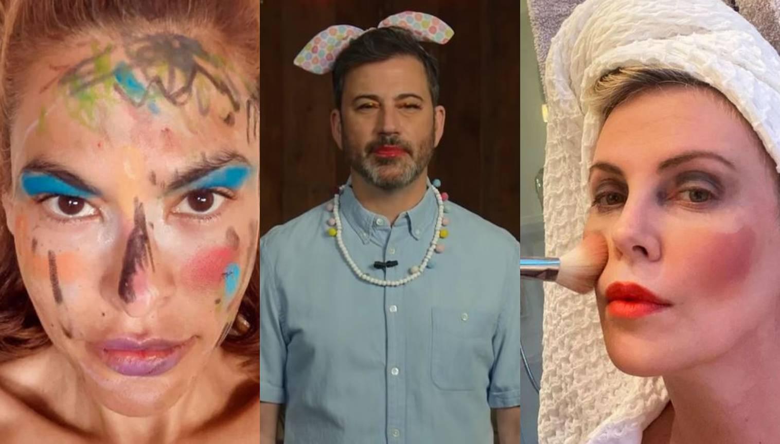 Kako su Evu Mendes, Charlize Theron i Jimmyja Kimmela našminkala njihova mala djeca