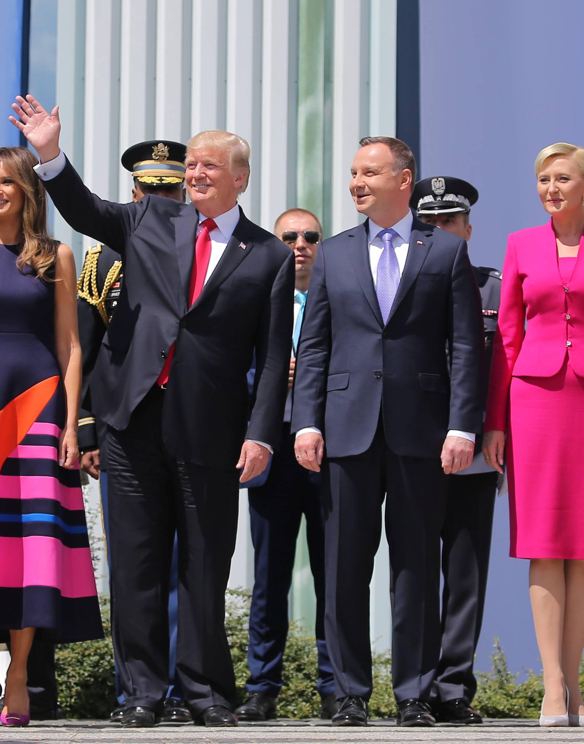 U.S. President Donald Trump gives a public speech at Krasinski Square in Warsaw