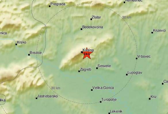 'Čuo se glasan zvuk': Potres od 1,4 Richtera pogodio je Kašinu