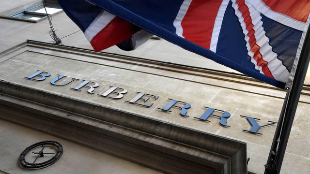 FILE PHOTO: The exterior of a Burberry store is seen in central London, Britain