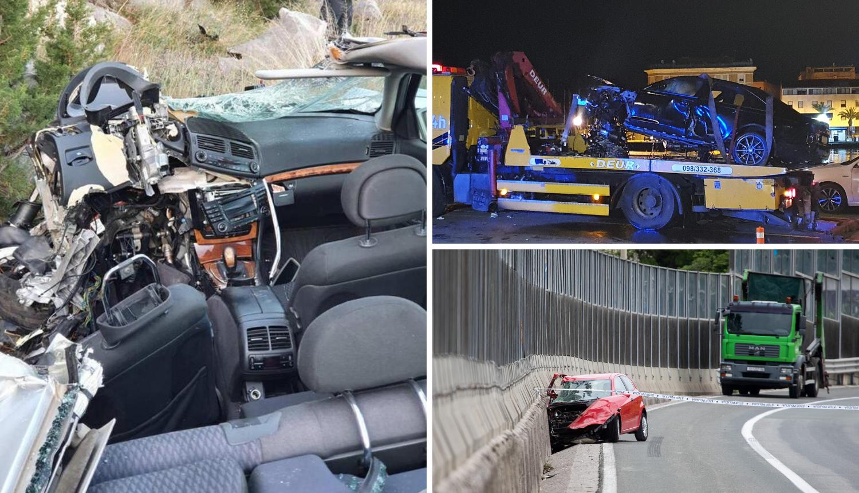 Strava u Zadru i Rijeci, a kraj Ploča auto se zabio u kamion