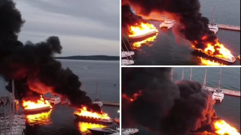 VIDEO Pogledajte snimku požara u Kaštelima iz zraka