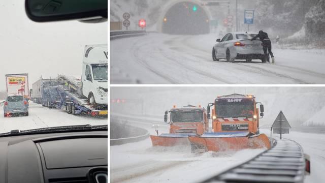 Bijeli kaos: Kamioni ne mogu kroz Gorski kotar, sudar kod Svetog Roka, kolona pet km