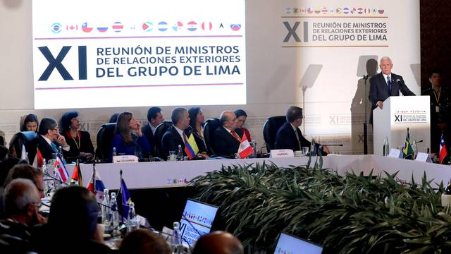 Meeting of Lima Group in Bogota