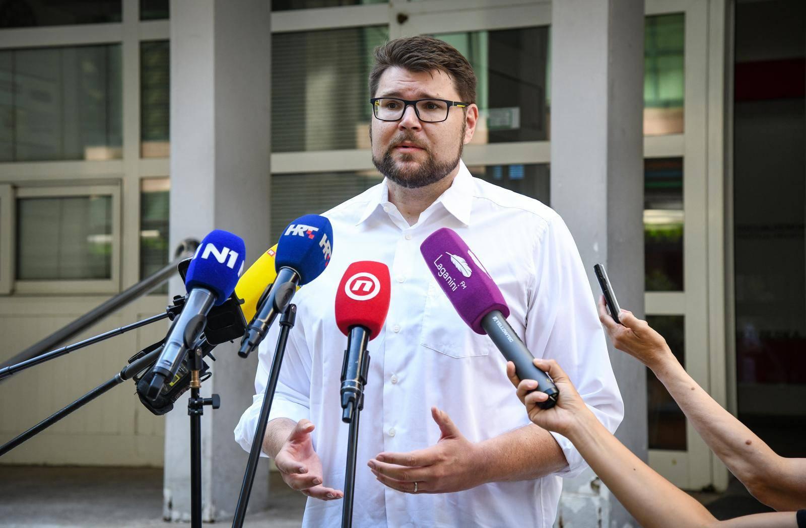 Zagreb: Peđa Grbin o svojoj kandidaturi za predsjednika SDP-a