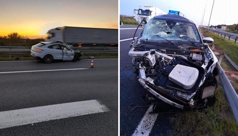 Porscheom se zabio u kamion na autocesti kraj Lipovljana: Mladić (26) je teško ozlijeđen