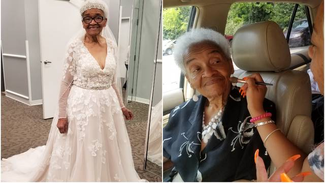 Baki (94) se ostvarila želja: Prvi put je obukla pravu vjenčanicu