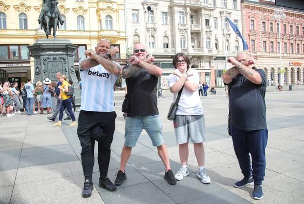 Zagreb: Navijači West Hama počeli se okupljat u centru grada