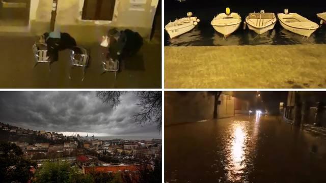 Snašli se u poplavi: Dvojac je hodao po stolcima usred Rijeke