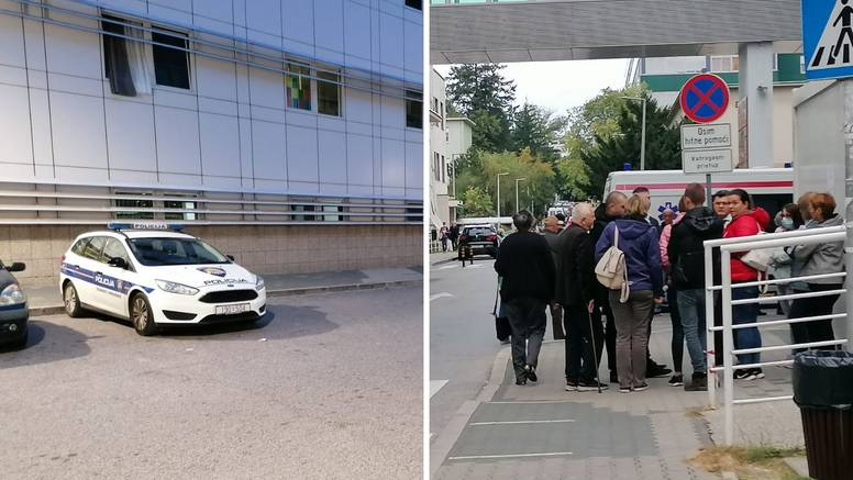 Desetak ljudi okupilo se ispred KBC-a Zagreb: 'Mirno ćemo prosvjedovati do kraja dana'