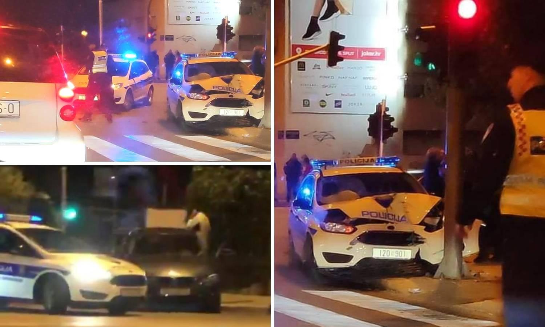 Policija u Splitu udarila u stup, traže misteriozni tamni auto...
