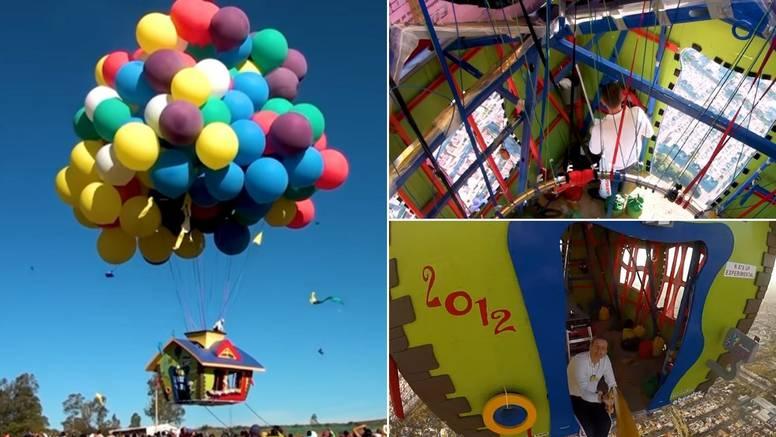 Kao u crtiću 'Up': Kuća poletjela zahvaljujući balonima s helijem