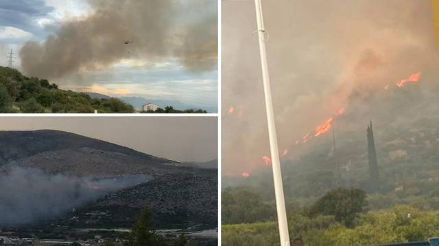 Sirene za uzbunu kod Trogira, kanaderi ugasili veliki požar