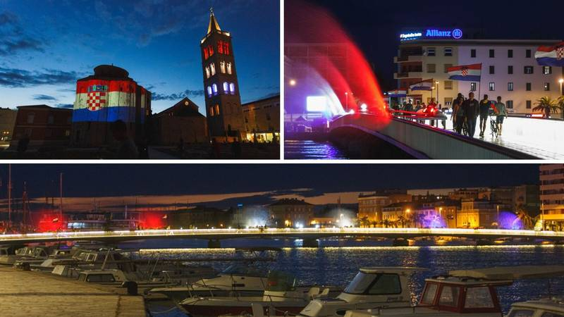 Pogledajte kako su građani Zadra obilježili Dan državnosti - obojali su grad bojama zastave
