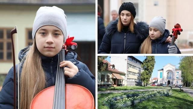 Tužna djevojčica: Nemam gdje svirati, škola nam je stradala...