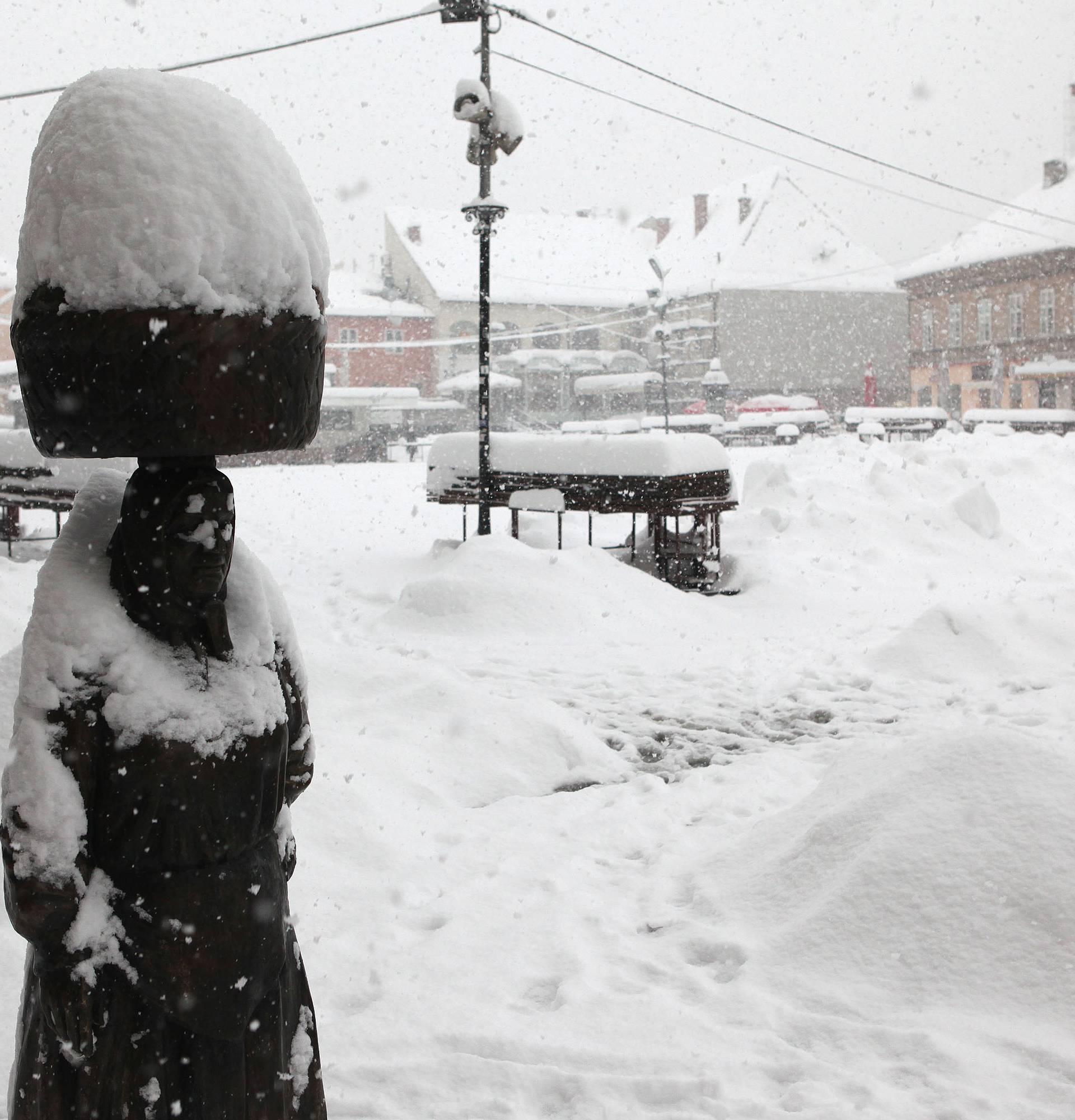 Objavili kad će snijeg, a ovako je Zagreb izgledao 14.1.2013.