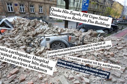 Strani Mediji Potres U Zagrebu Otezao Je Karantenu Zbog Korona Virusa 24sata