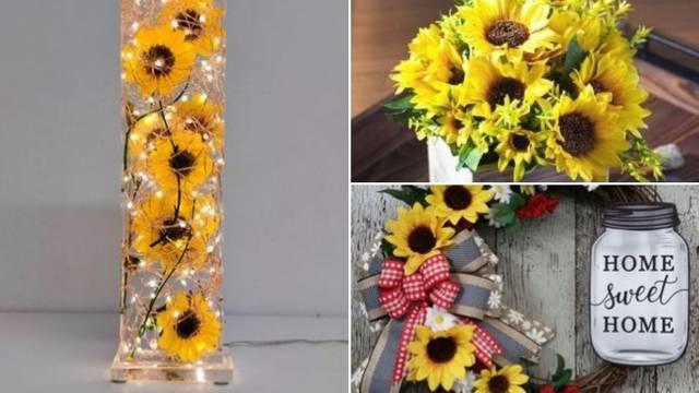 Suncokreti u domu - 10 ideja za predivne ljetne ukrase i detalje