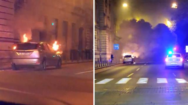 Zapalio se auto kod Zrinjevca, od dima se ništa nije vidjelo
