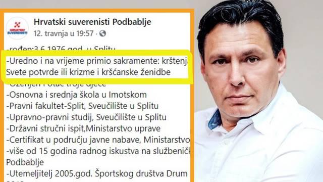 Ovo je kandidat za načelnika Podbablja: 'Uredno sam i na vrijeme primio sve sakramente'