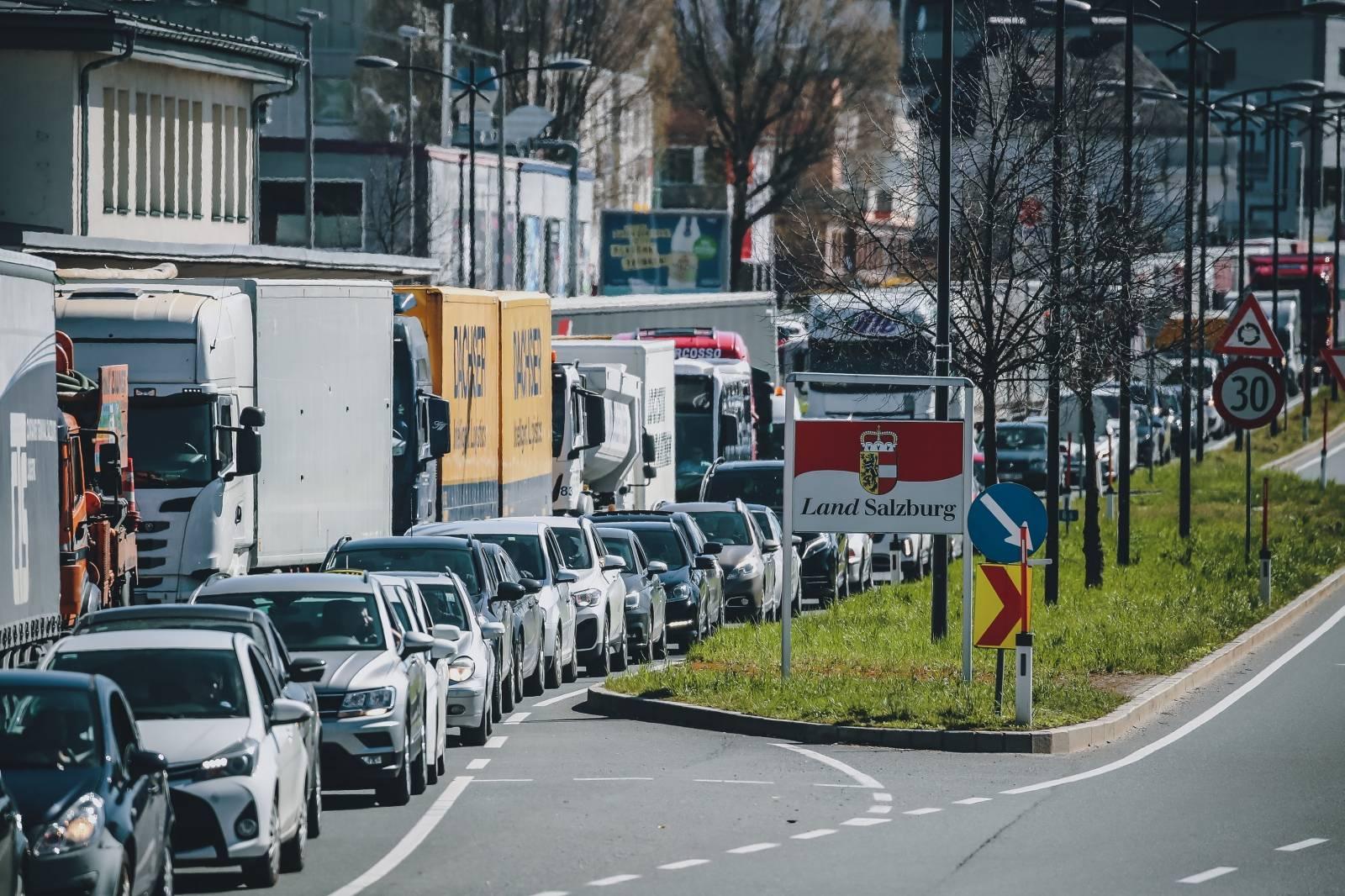 AUT, Coronavirus in Österreich, Grenze zu Deutschland