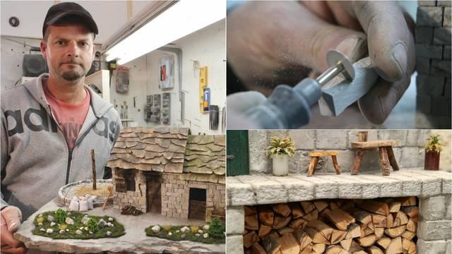 Josip oživljava dalmatinske kamene kućice: 'Za samo jednu maketu treba mi dva mjeseca'
