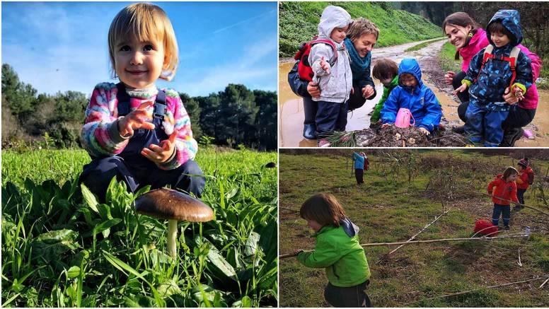 Šumski vrtić u Puli: Mališani se vesele igri u blatu i lokvama
