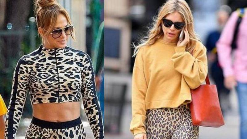 Jennifer Lopez i Sienna Miller nose tajice s uzorkom leoparda