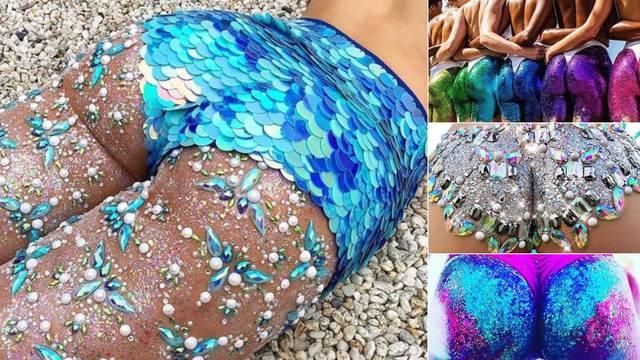 Novi ljetni trend: Šljokičaste sirenske guze osvajaju plaže