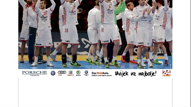 Veliki poster hrvatske rukometne reprezentacije na dar