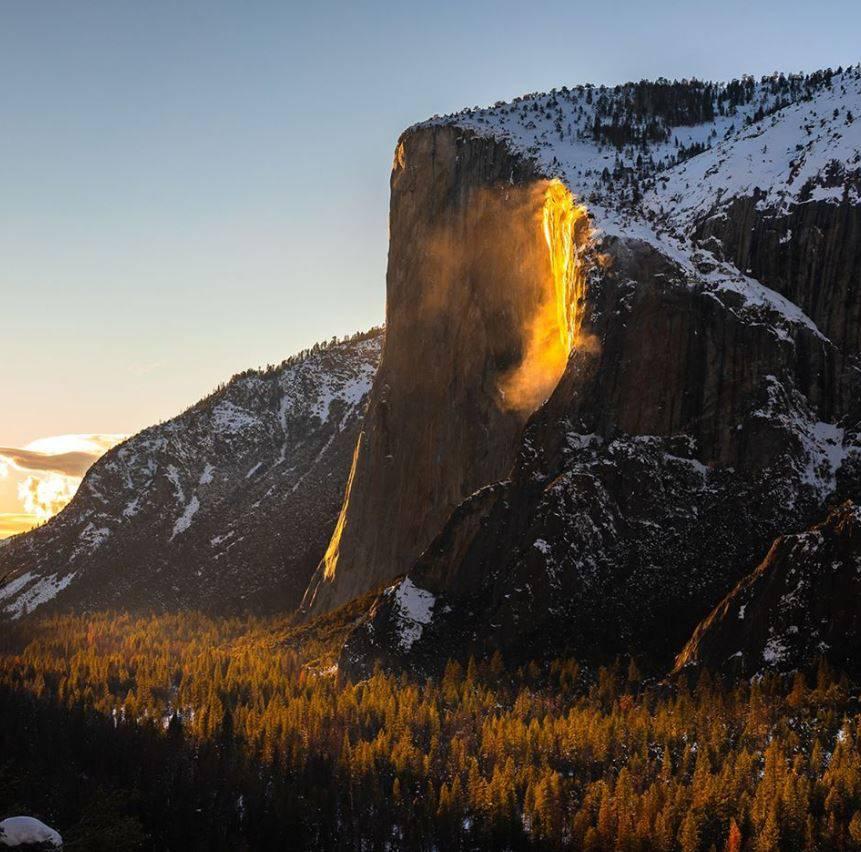 Vatreni vodopad u Yosemiteu možete vidjeti samo dva tjedna